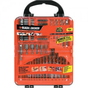 Black and Decker 71-770 75-Pc. Drilling and Screwdriving Set