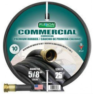 Flexon PH5825 Black Commerical Premium Rubber Garden Hose