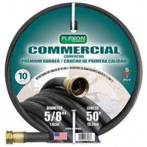 Flexon PH5850 Black Commerical Premium Rubber Garden Hose