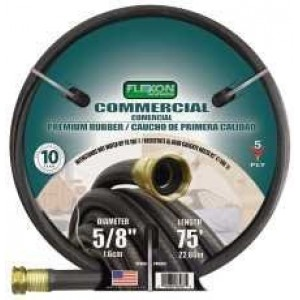 Flexon PH5875 Black Commerical Premium Rubber Garden Hose
