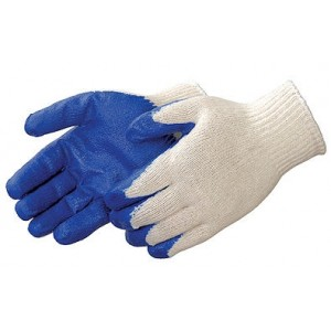 Blue Coated String Knit Gloves Dozen