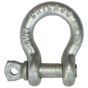 "Chicago 1-1/4"" Screw Pin Galvanized Shackle 12Ton USA"
