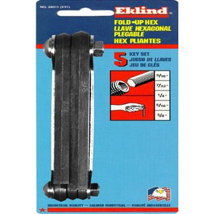 Eklind 20511 Fold-Up Set, 3/16-Inch to 3/8-Inch Hex Keys