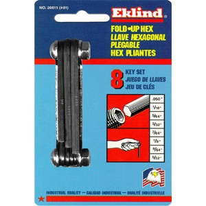 Eklind 20811 Fold-Up Set 0.050-Inch to 5/32-Inch Hex Keys