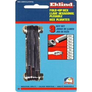 Eklind 20912 Fold-Up Set 0.050-Inch to 3/16-Inch Hex Keys