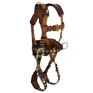 FallTech 7081LX ComforTech Full Body Harness with 3 D-Rings and Tongue Buckle Leg Straps
