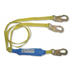 FallTech 7256LTY SoftPack 6-Foot Y-Leg Shock Absorbing Lanyard Light Line