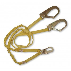 FallTech 7259Y3 Internal 6-Foot Y-Leg Shock Absorbing Lanyard with 2 #18 Rebar Hooks