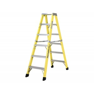 Featherlite Extra-Heavy Duty Fiberglass Double Step Ladder