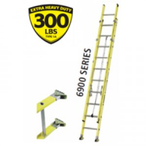 Featherlite Extra Heavy Duty Fiberglass Extension Ladder
