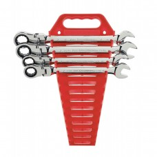 Gear Wrench 9703 4 Pc. Flex Combination Ratcheting Wrench Completer Set SAE