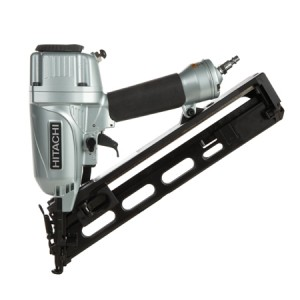 "Hitachi HNT65MA4 2-1/2"" 15-Gauge Angled Finish Nailer with Air Duster"