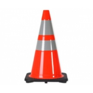 "Traffic Safety Cone 28"" Orange with Reflective Tape"