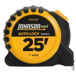 Johnson Level 1804-0025 Auto Lock Power Tape Measure 1x25 ft.