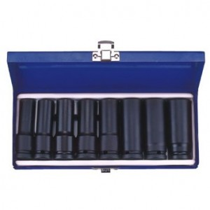 "KT PRO A4404MP 8 PC Metric 1/2"" Drive Socket Set"