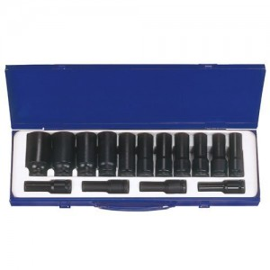 "KT PRO A4405MP 15 PC DP Metric 1/2"" Drive Socket Set"