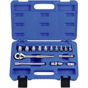"KT PRO A3504MR 15 PC Metric 3/8"" Drive Socket Set"