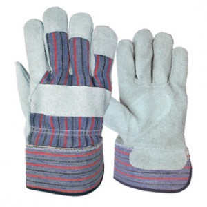 Leather Palm Work Gloves Dozen