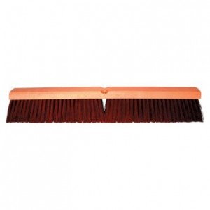 Magnolia Brush No. 2224 24'' Brown Line Coarse Plastic Garage Brush with B-60 Handle