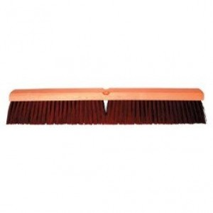 Magnolia Brush No. 2218 18'' Brown Line Coarse Plastic Garage Brush with B-60 Handle