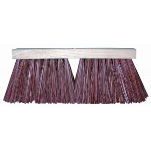 "Magnolia Brush 1516-P-SL Street Broom, Dyed Palmyra Stalk Bristles, 6-1/4"" Trim, 16"" Length"