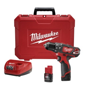"Milwaukee 2408-22 M12 12v Lithium 3/8"" Hammer Drill/ Driver Kit"