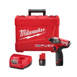 "Milwaukee 2453-22 M12 FUEL™ 1/4"" Hex Impact Driver Kit"