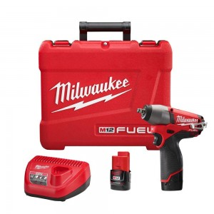 "Milwaukee 2454-22 M12 Fuel 12v Brushless 3/8"" Impact Kit"