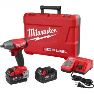 "Milwaukee 2755B-22 M18 FUEL 1/2"" Compact Impact Wrench w/ Friction Ring Kit"
