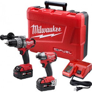 Milwaukee 2797-22 M18 FUEL Hammer Drill and Impact Driver Combo Kit w/REDLITHIUM Batteries