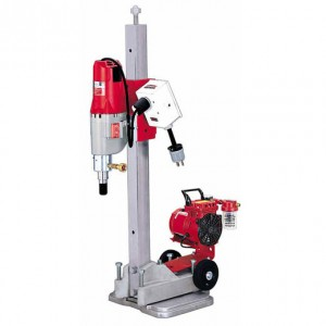 Milwaukee 4115-22 Diamond Coring Rig W/ Small Base Stand, Vac-U-Rig® Kit, Meter Box