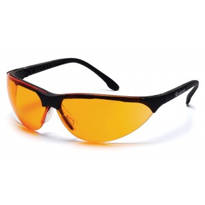 Pyramex Safety SB2840S Rendezvous Orange Lens W/ Black frame