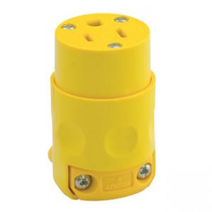 Leviton Yellow 515CV-000 15 Amp Connector Grounded 125 Volt