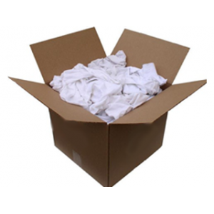 Value Brand 25 lb Box of White Rags