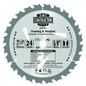 CMT K02407 Contractor Saw Blades (Single)