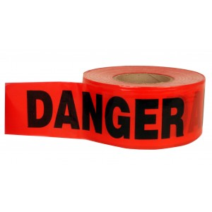 Red Danger Tape 3x1000 FT