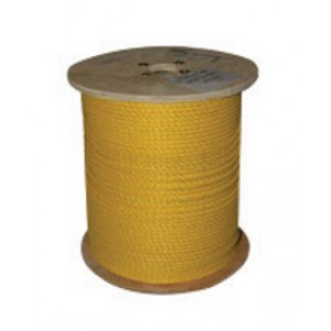 "Frank Winne & Sons 71692 3/8"" X 600' Yellow Poly 3-Strand Twisted Rope"
