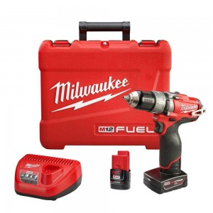 "Milwaukee 2404-22 M12 Fuel 12v Brushless 1/2"" Hammer Drill/ Driver Kit"