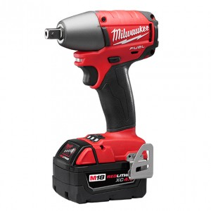 "Milwaukee 2655B-22 M18 FUEL™ 1/2"" Impact Wrench Kit with Ball-Pin - XC4.0 Batteries"