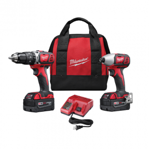 Milwaukee 2697-22 Hammer Drill and Impact Driver Combo Kit w/REDLITHIUM
