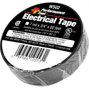 "Performance Tool W502 3/4"" x 60' Electrical tape"
